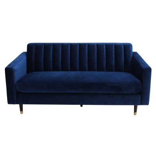 Diego Large Blue Velvet Sofa