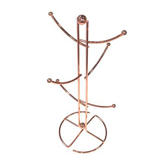 Rose Gold Effect Wire Deluxe Mug Tree