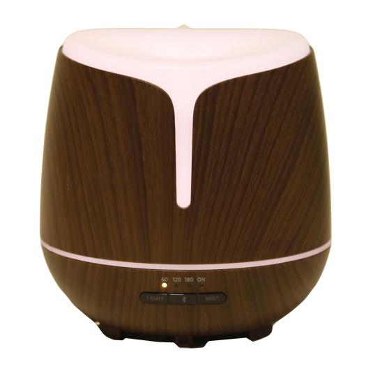 Walnut Effect Bluetooth LED Ultrasonic Diffuser