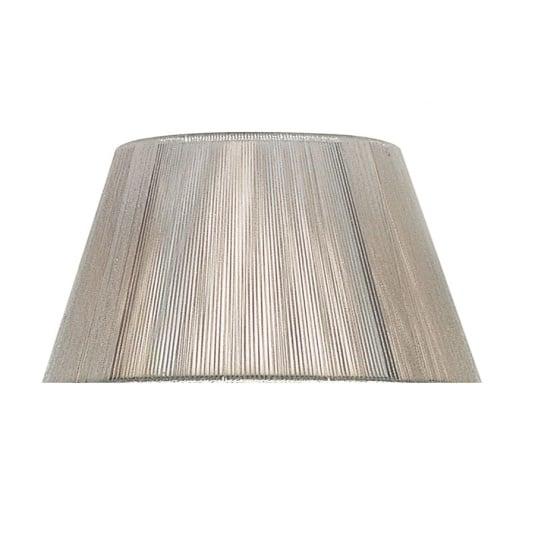 Silver Silk String 40cm Lamp Shade