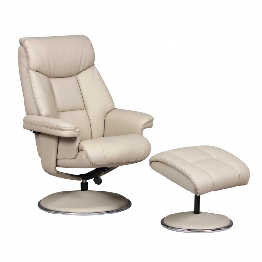 Irving Cream Recliner Chair and Footstool