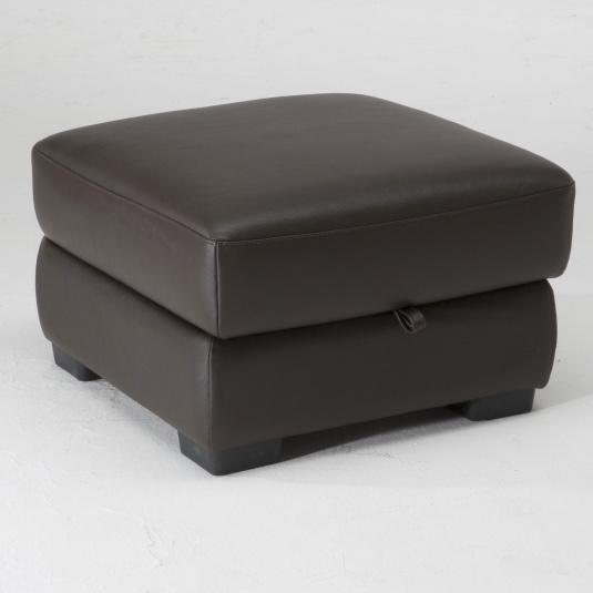 Natuzzi Editions Pulgia Small Leather Footstool