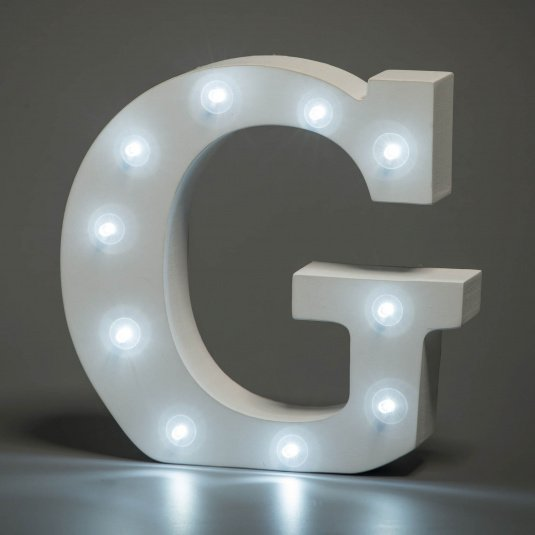 Light Up Letter - G