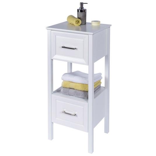 Tabley Free Standing White Bathroom Floor Cabinet