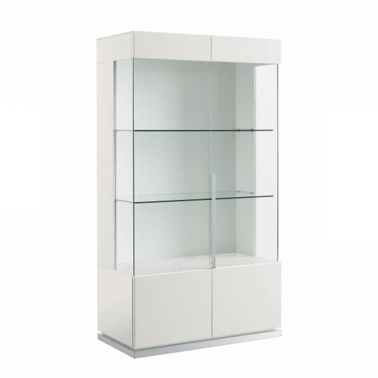 Torino White High Gloss 2 Door Display Cabinet