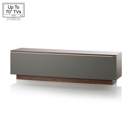 "UK CF Fusion 160cm Walnut and Grey TV Stand for up to 70"" TVs"