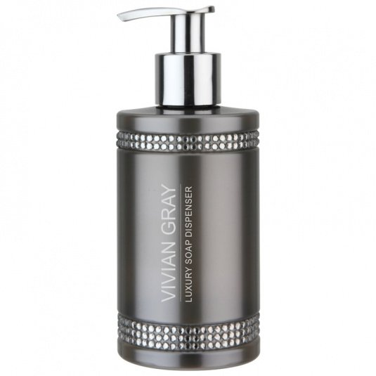 Vivian Gray Crystal Soap Dispenser in Grey