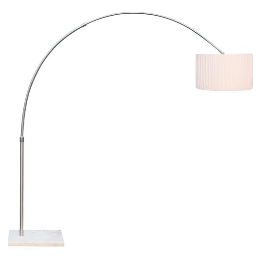 Globo La Nube Nickel Overreach Floor Lamp & White Shade