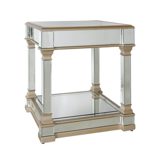 Versailles Mirrored Glass Side Table