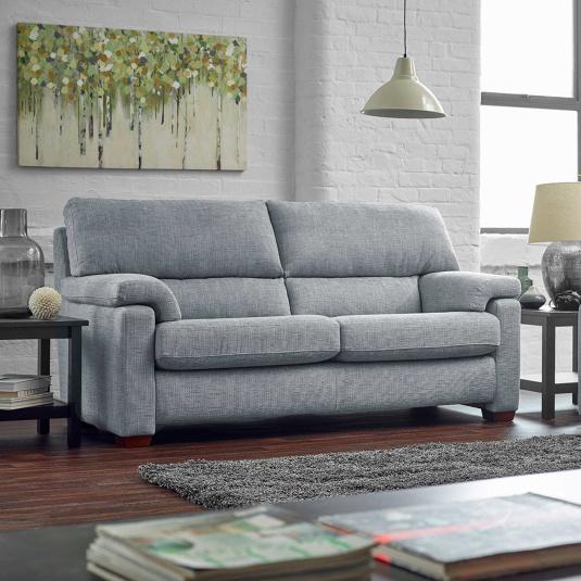 Houston Fabric Sofa Collection - 3 Seater Sofa