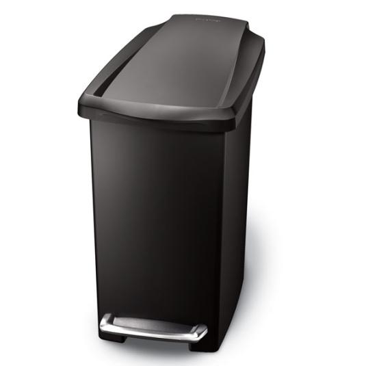 Simplehuman Black 10 Litre Plastic Bin