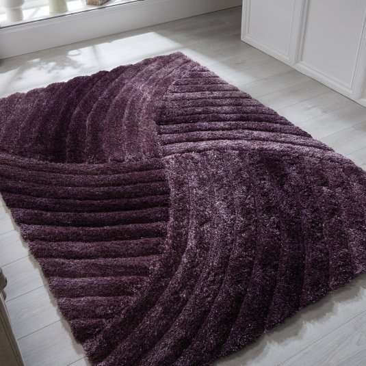 Verge Furrow Purple Rug Collection