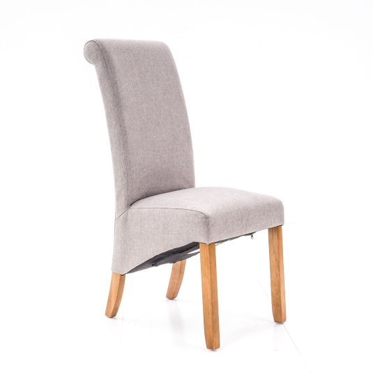 Porto Grey Fabric Dining Chair