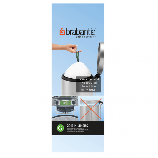 Brabantia 30 Litre Tie Handle Disposal Bin Liners - Size G