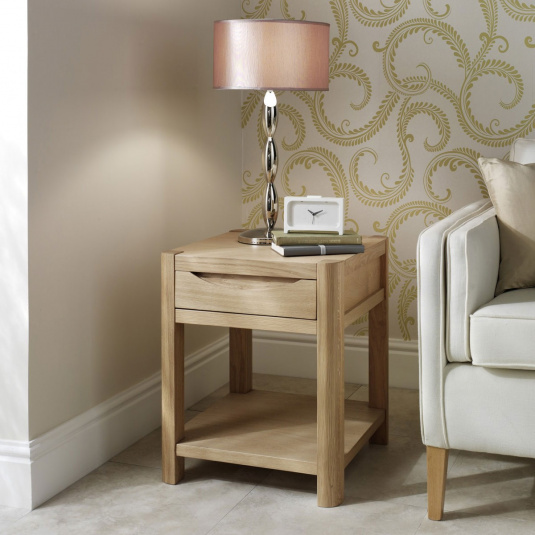 Oslo Light Oak Side Table