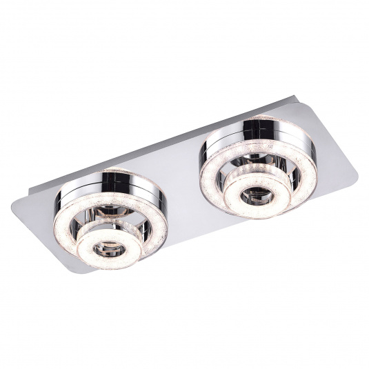 Tim Lola Colour Change LED Two Flush Ceiling Light
