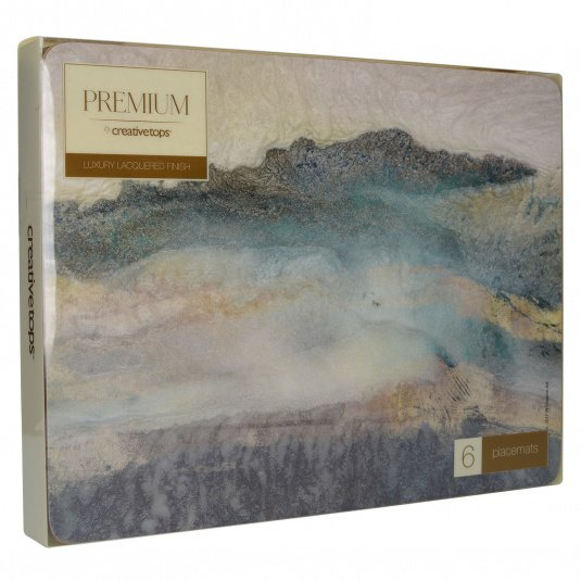 Lustre Mineral Pack Of 6 Placemats
