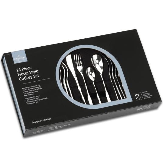 Grunwerg Fiesta 24 Piece Stainless Steel Cutlery Set
