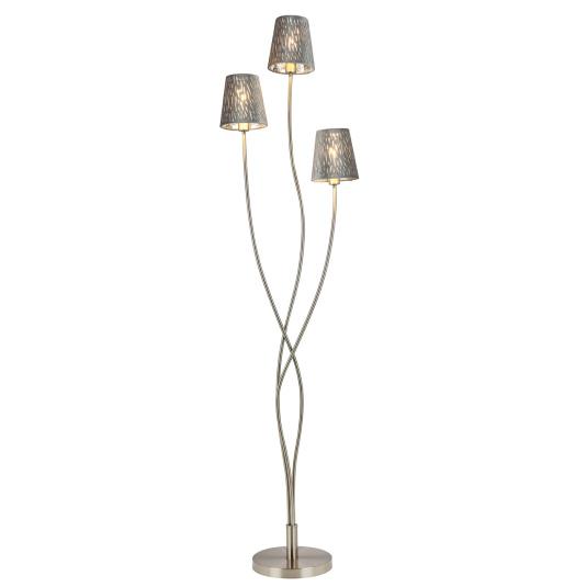 Globo Tarok Silver Velvet 3 Light Floor Lamp