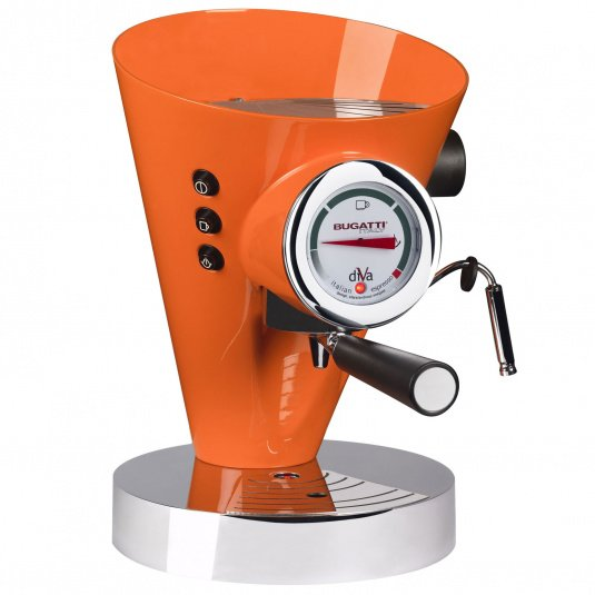 Bugatti Diva Orange Espresso Machine