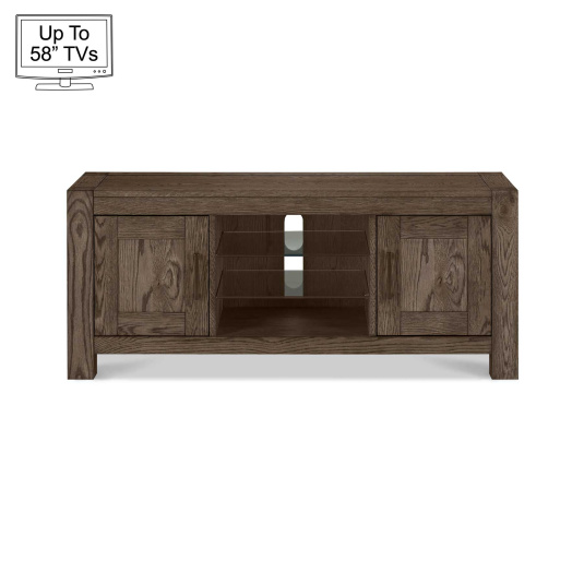 "Hennessey Dark Oak TV Stand for up to 58"" TVs"