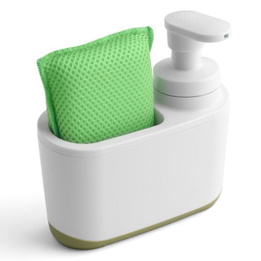 Addis Soft Touch White & Green Soap Dispenser