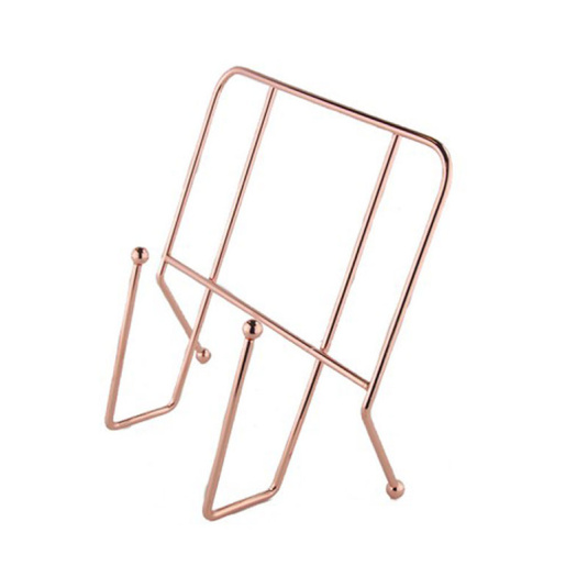 Rose Gold Effect Wire Cook Book Holder