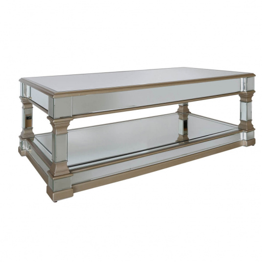 Versailles Mirrored Glass Coffee Table