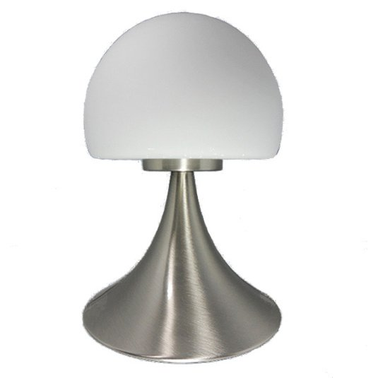 HU Home Jemima Satin Nickel Touch Table Lamp