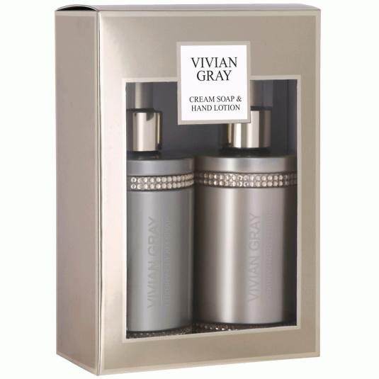 Vivian Gray Brown Crystal Soap & Hand Lotion