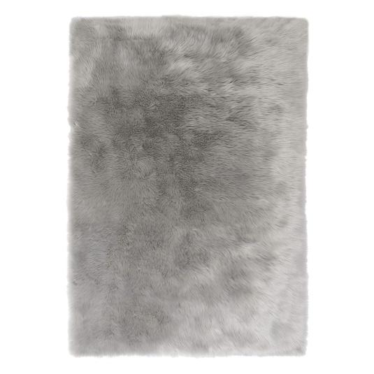 Grey Faux Fur Sheepskin Rug 120x170cm | Housing Units