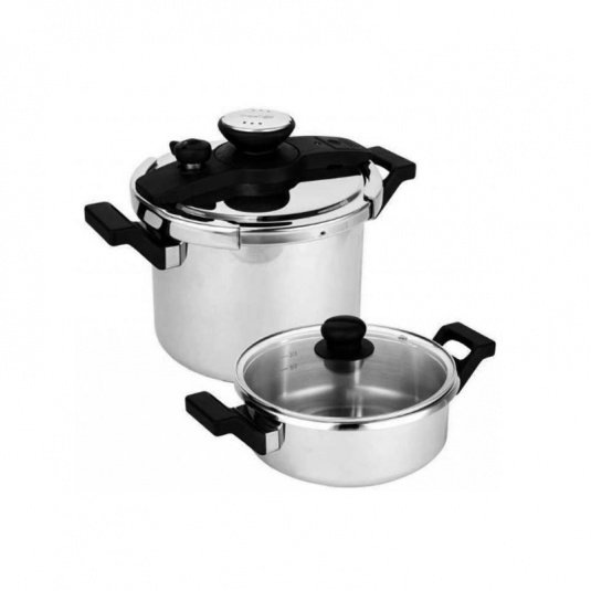 Prestige Stainless Steel 6 Litre and 3 Litre Pressure Cooker