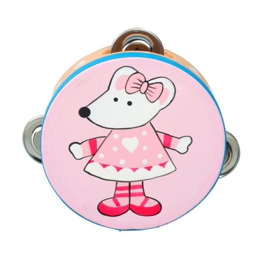 Pink Musical Tambourine