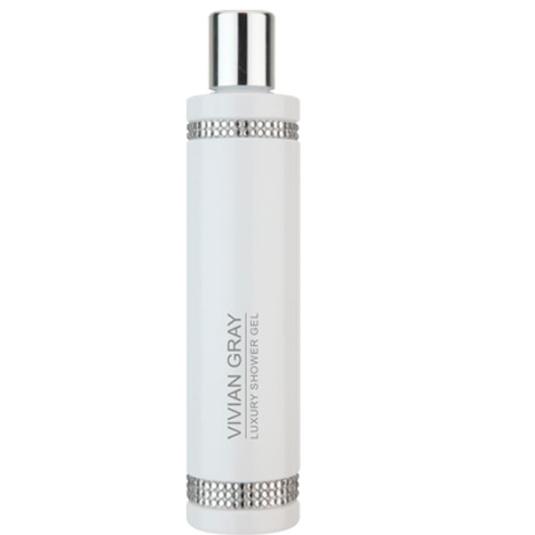 Vivian Gray White Crystal Shower Gel