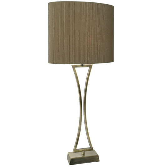 Oporto Antique Brass Table Lamp And Shade