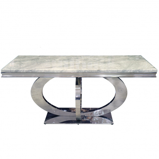 Oracle 180cm Grey Marble Dining Table