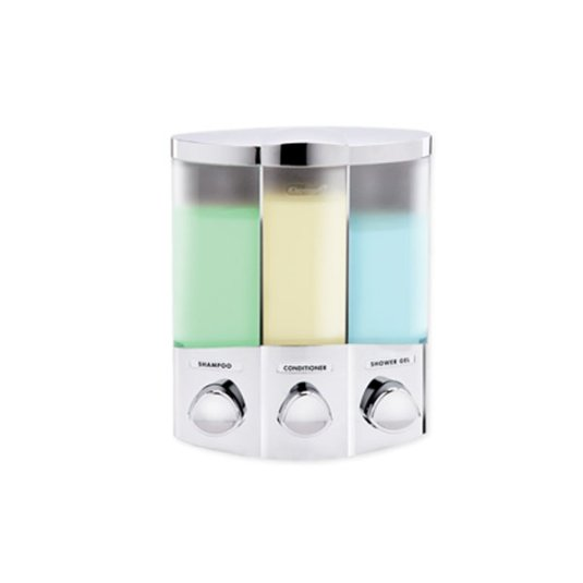 Markola Chrome Trio Corner Dispenser