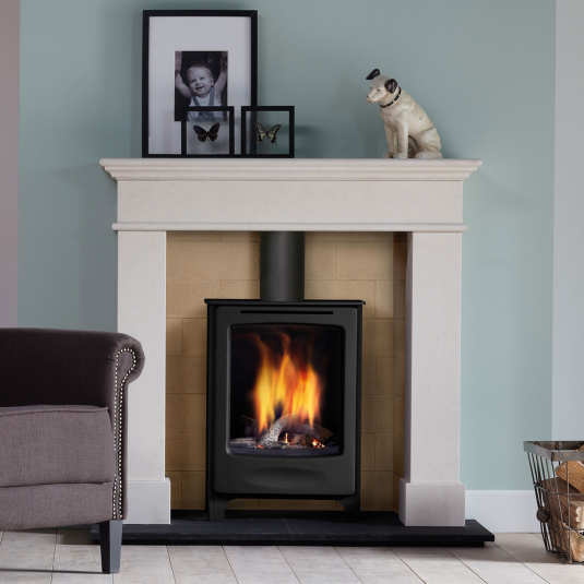 DRU Global Beau Gas Stove in Anthricite