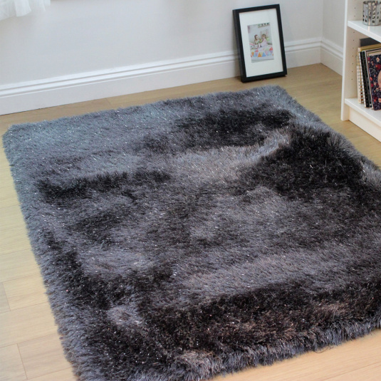 Glitz Charcoal Rug Collection