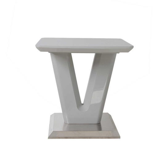 Vigo High Gloss Grey Side Table