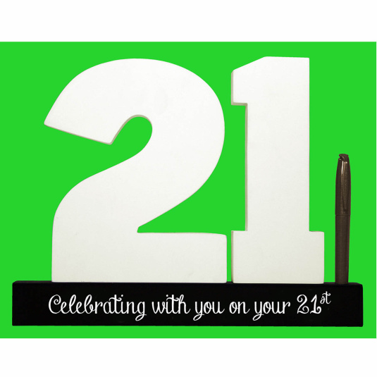 Signature 21 3D Number and Pen