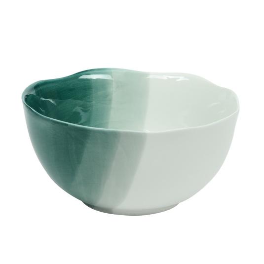 Triple Dip Green Cereal Bowl