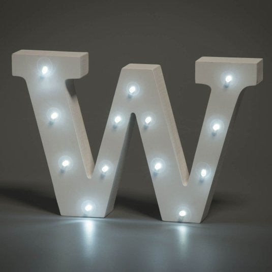 Light Up Letter - W