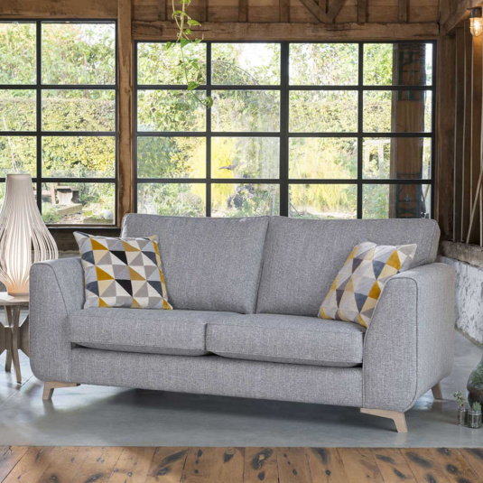 Westbrook Grey Fabric 3 Seater Sofa