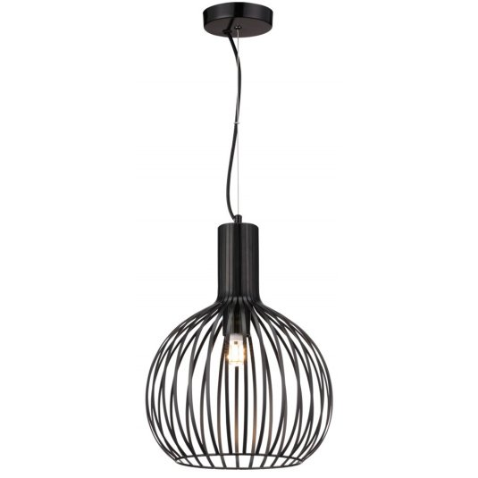 Mr Smith Large Black Iron Pendant Light