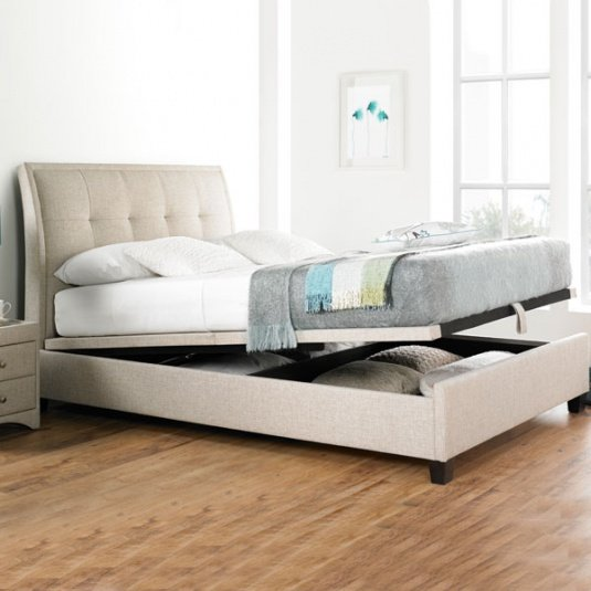 Repose Oatmeal Ottoman Bed Collection