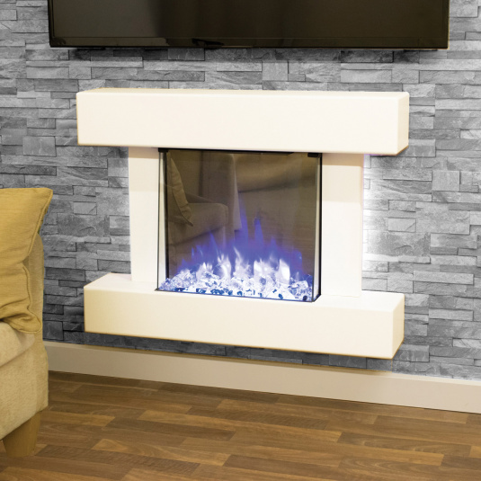 Katell Cosenza White Electric Fire Suite
