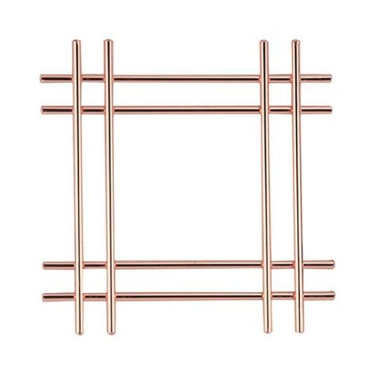 Rose Gold Effect Wire Cross Trivet
