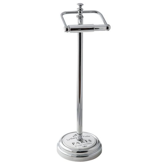 Showerdrape Paris White Toilet Roll Holder