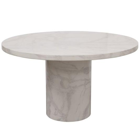 Savona Bone White Circular Marble Effect Coffee Table